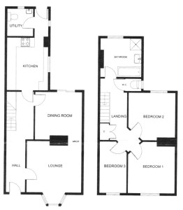 Flint Cottage floorplan.