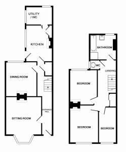 White Cottage floor-plan.