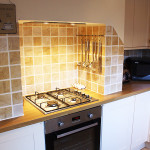 Oven and hob in Flint Cottage Kitchen.