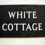 White Cottage sign.